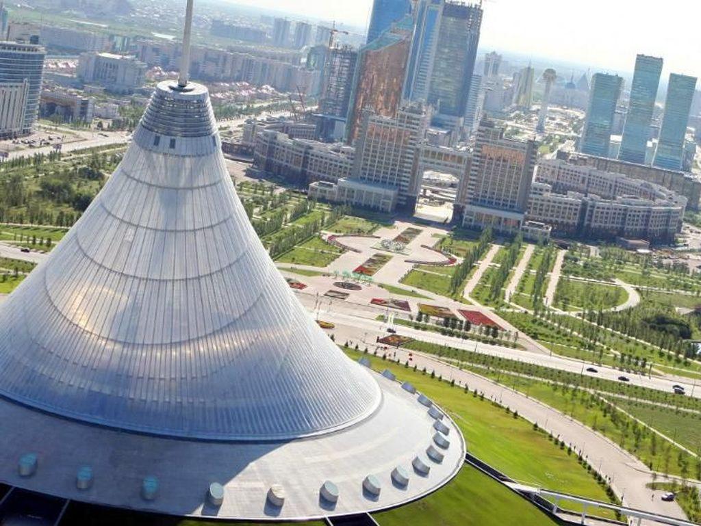 Mengintip Bangunan Futuristik di Astana Ibu Kota Kazakhstan