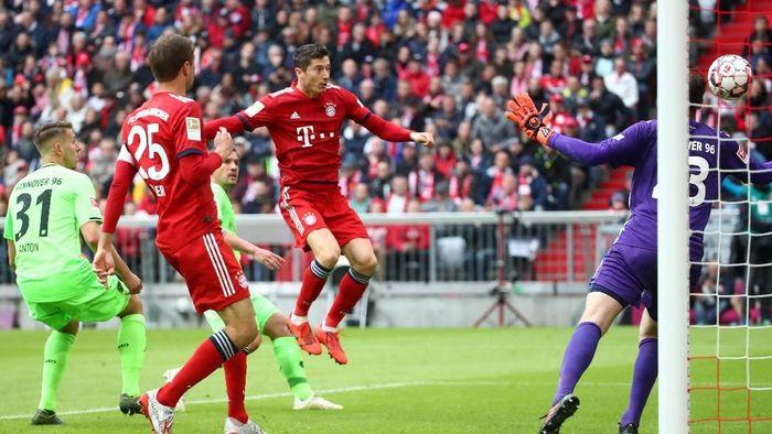 Bayern Munich berhasil mengalahkan Hannover 96 3-1 dalam lanjutan Bundesliga. (Foto: Michael Dalder/Reuters)
