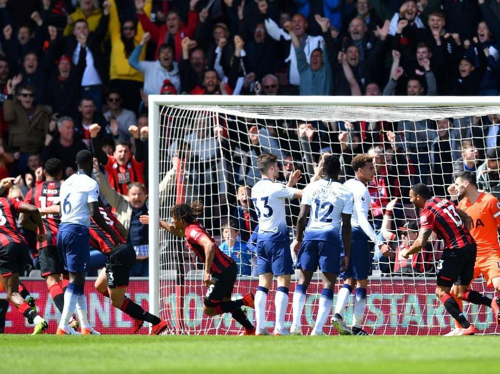 Hasil Liga Inggris: 9 Pemain Spurs Ditaklukkan Bournemouth