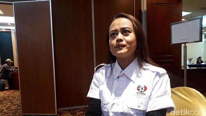 Esti Puji Lestari, manajer Persijap Jepara (Mercy Raya/detikSport)