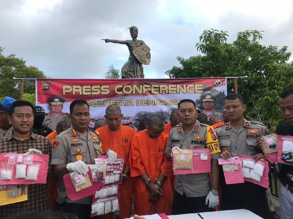 16 Bandar-Kurir Narkoba Dipajang di CFD Bali