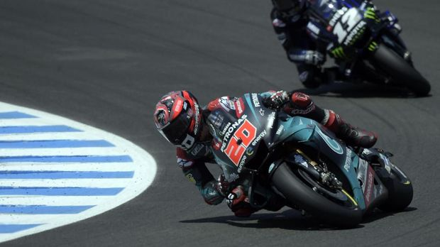 Fabio Quartararo mengalami nasib sial di MotoGP Spanyol 2019.