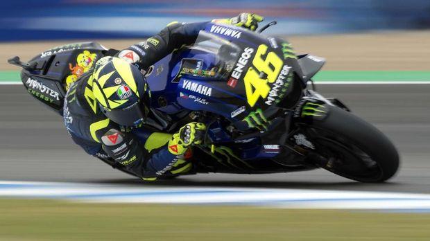 Valentino Rossi finis di posisi keenam pada MotoGP Spanyol.