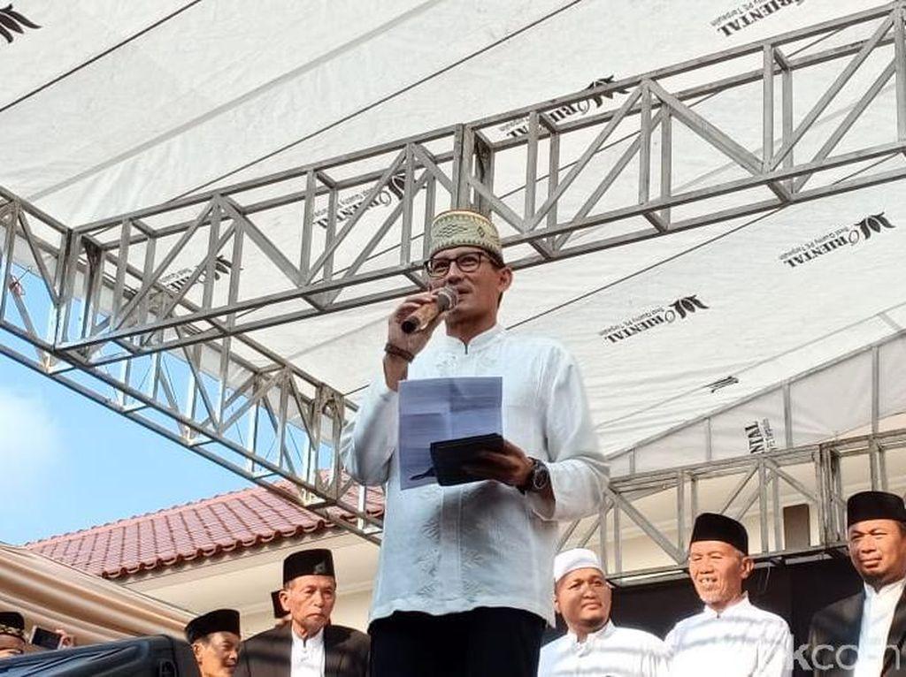 Sandiaga Rencana Salat Tarawih di Jaksel, Prabowo di Hambalang