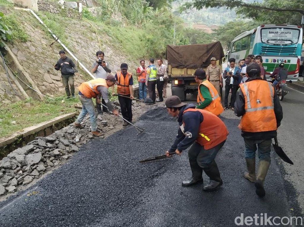 Perbaikan Jalan di Nagreg Ditargetkan Selesai Sebelum Mudik