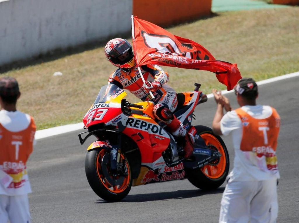 Marquez Dominan di Jerez, Rider Tuan Rumah Kuasai Podium MotoGP Spanyol