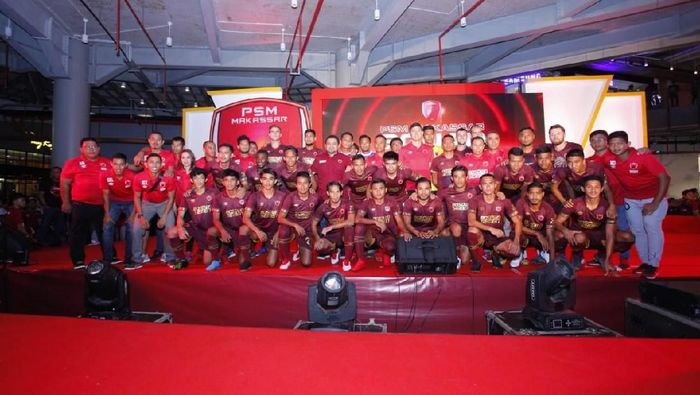 PSM Makassar luncurkan tim baru jelang Liga 1 2019. (Foto: Reinhard Soplantila)