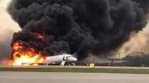 Korban Tewas Terbakarnya Pesawat di Rusia Bertambah Jadi 41 Orang