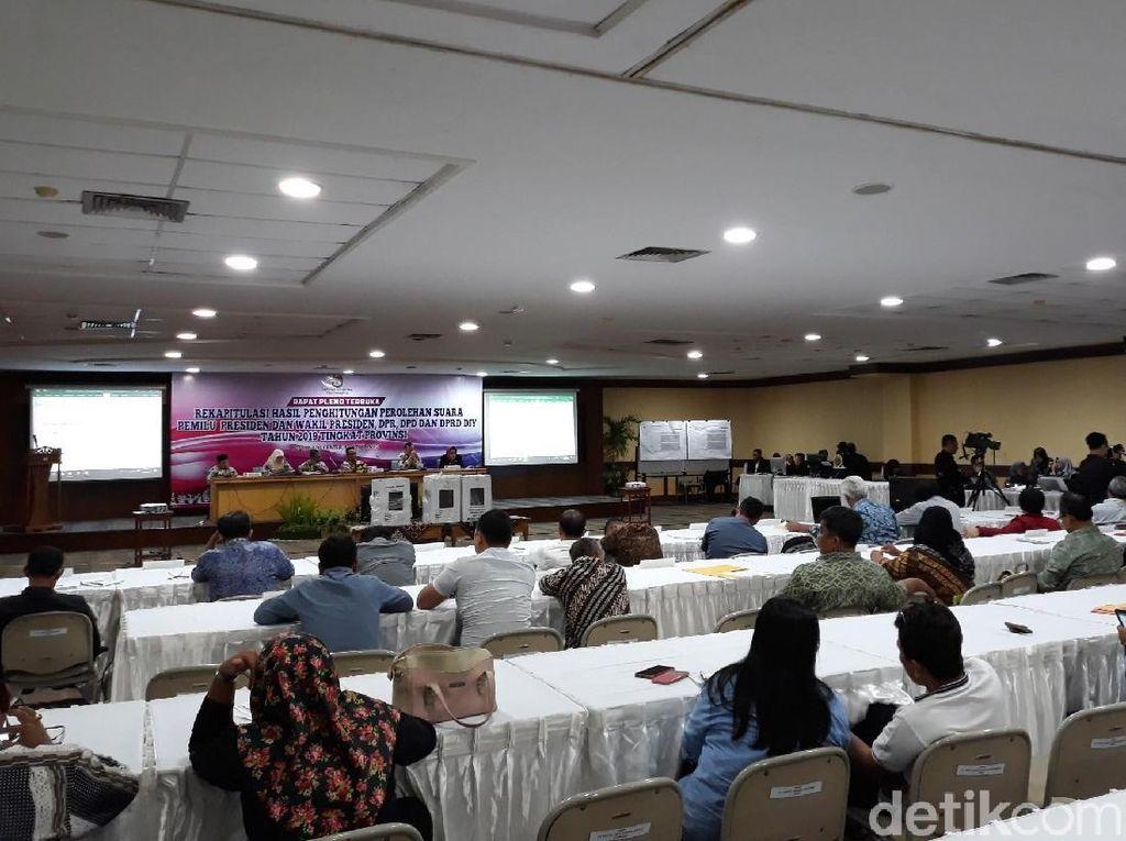Rekapitulasi DIY, Jokowi-Maruf Sapu Bersih di 4 Kabupaten