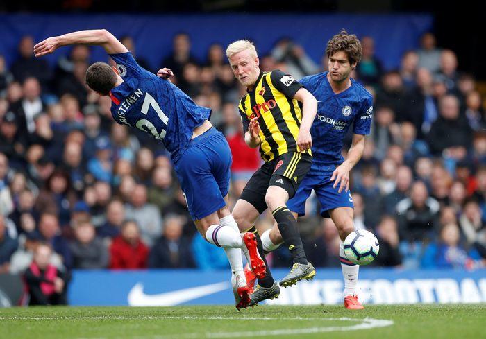 Pertandingan ini berlangung di Stamford Bridge, Minggu (5/5/2019) malam WIB. Reuters/Matthew Childs.