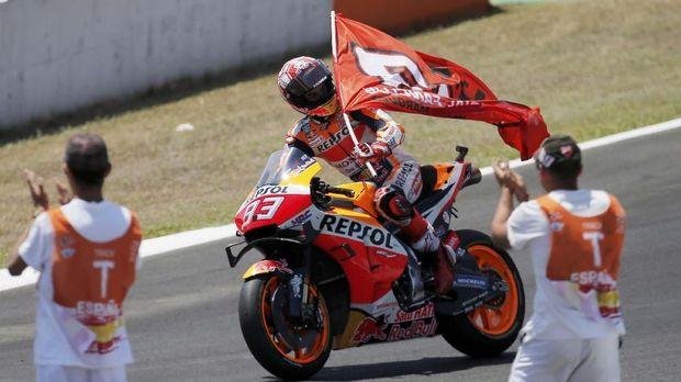 Marc Marquez menang di MotoGP Spanyol. (