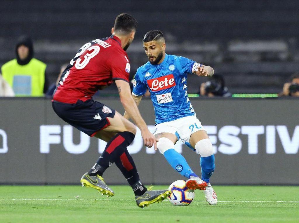 Hasil Liga Italia: Penalti di Injury Time Menangkan Napoli atas Cagliari