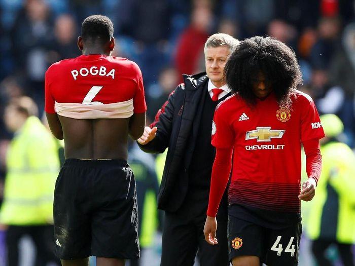 Manchester United di Liga Inggris musim lalu. (Foto: Reuters/Jason Cairnduff)