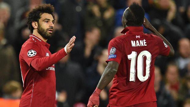 Salah dan Mane selalu bersaing dalam perburuan gol. (