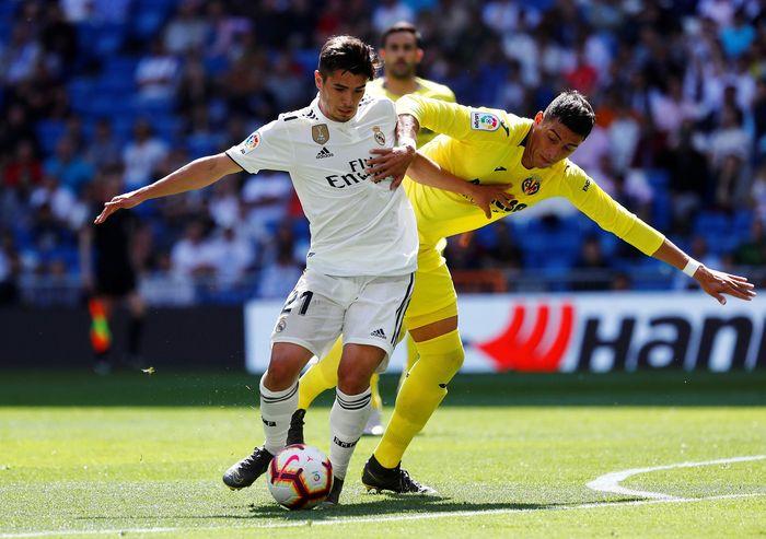 Real Madrid bertanding melawan Villarreal di Santiago Bernabeu, Minggu (5/5/2019) malam WIB. Reuters/Juan Medina.