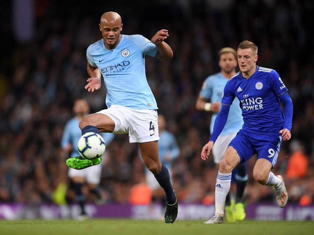 Man City vs Leicester: Gol Kompany Antar Citizens Kembali Puncaki Klasemen