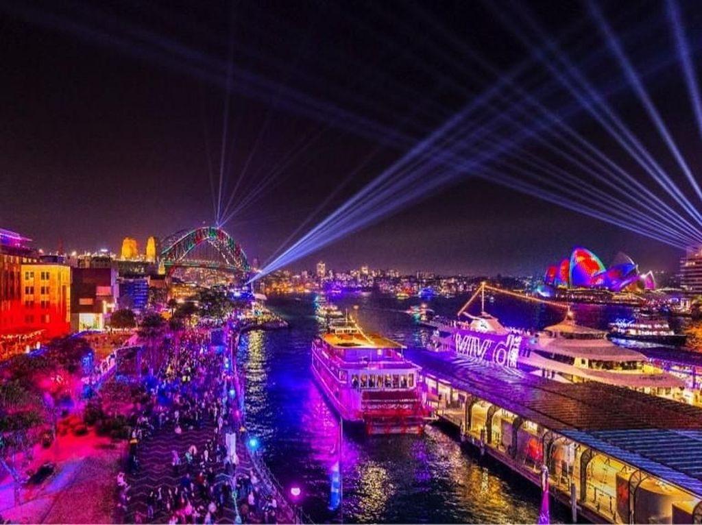 5 Lokasi untuk Menyaksikan Festival Cahaya Vivid Sydney 2019