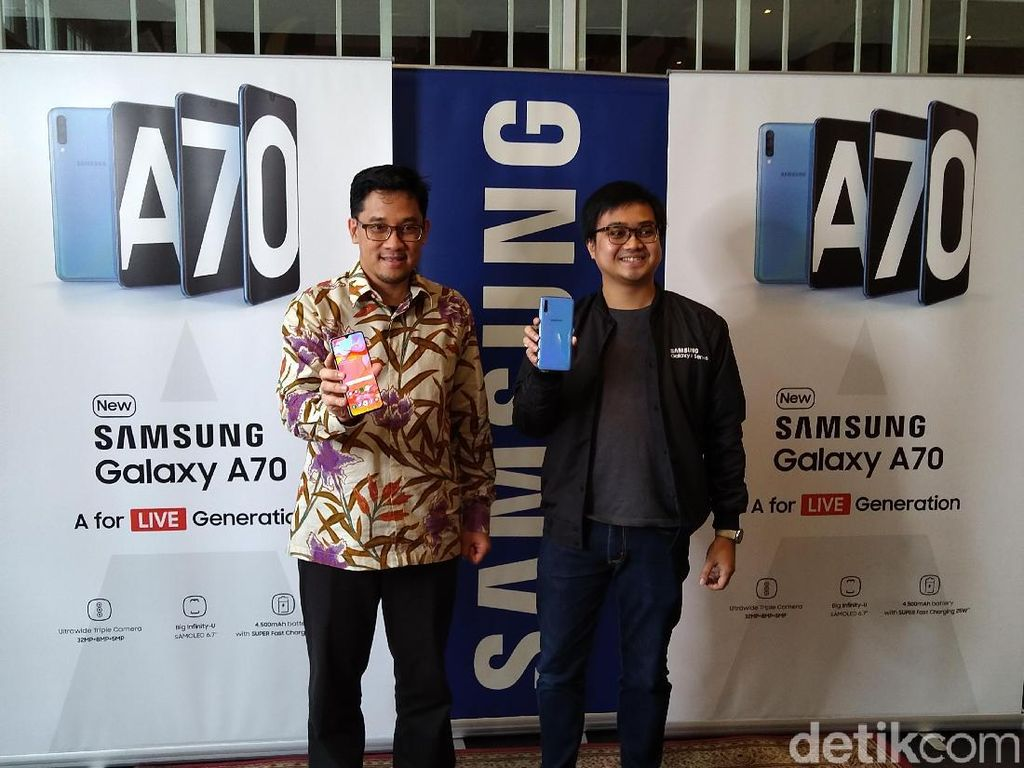 Samsung Resmi Boyong Galaxy A70 ke Indonesia