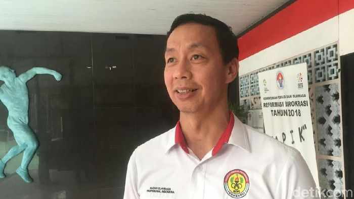 Ketua Umum BOPI, Richard Sambera, mengatakan bahwa verifikasi Liga 1 hampir tuntas. (Foto: Amalia Dwi Septi/detikSport)