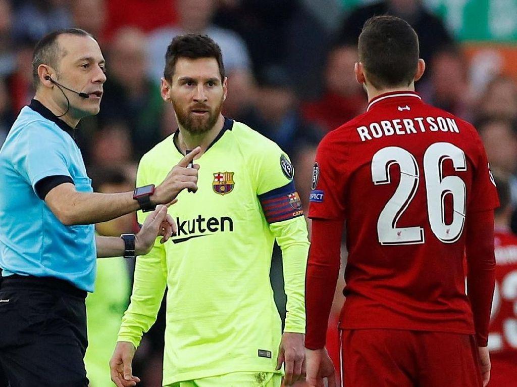 Ribut-ribut Robertson dan Messi Saat Liverpool Vs Barcelona