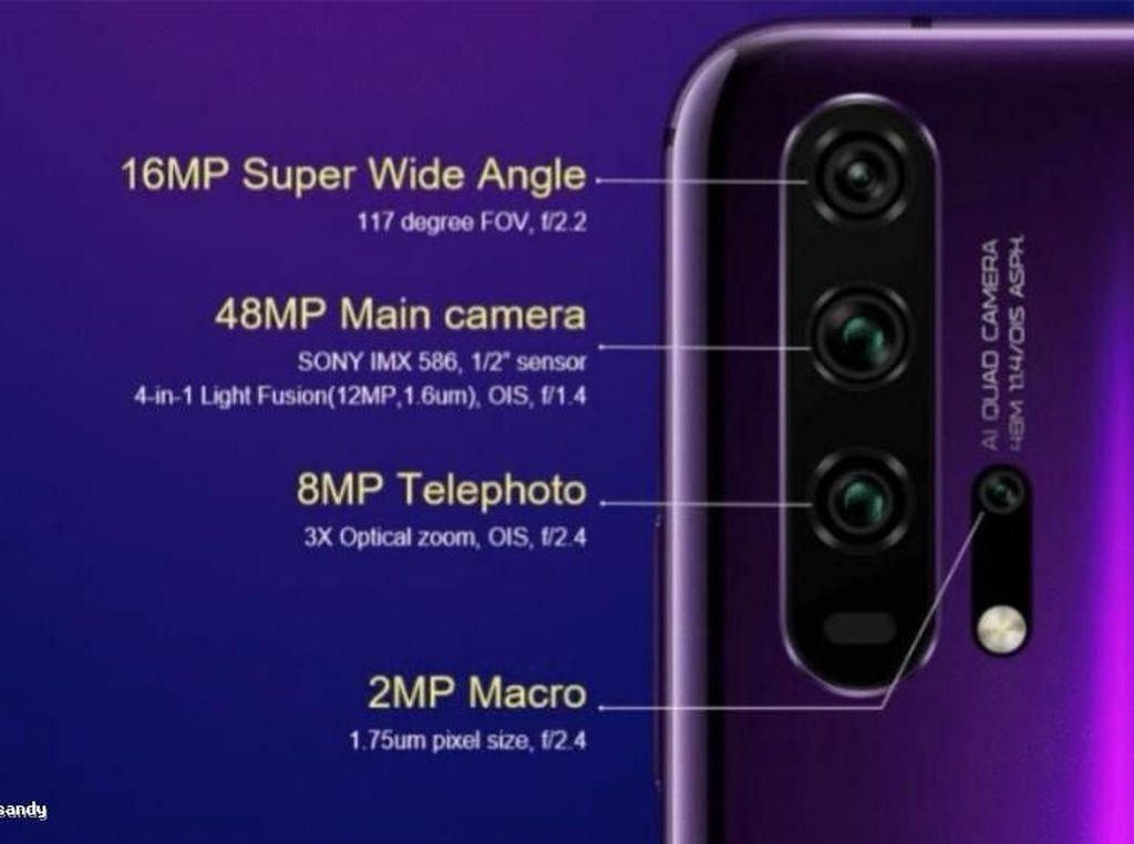 Muncul Bocoran Skema Empat Kamera Honor 20 dan 20 Pro