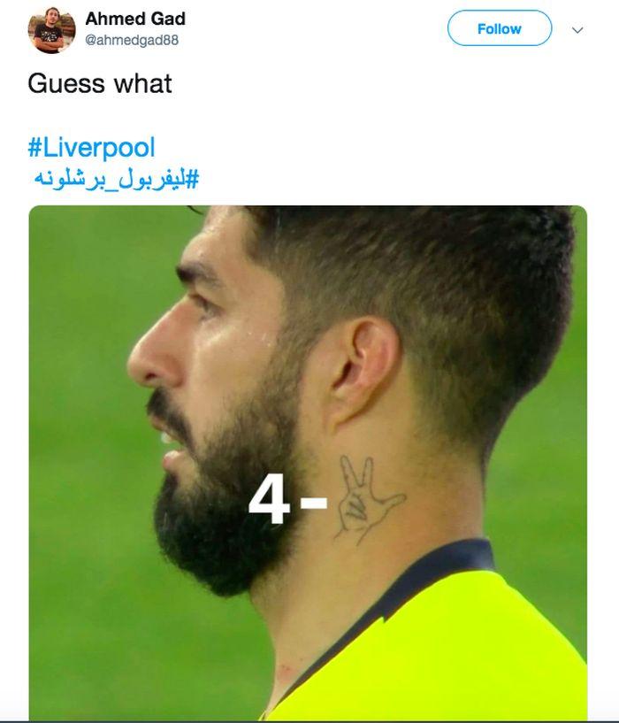 Kalah 0-3 di Camp Nou, Liverpool berbalik menang 4-0 atas Barcelona di Anfield, Rabu (8/5/2019) dini hari WIB. The Reds lolos dengan agregat 4-3. Foto: istimewa