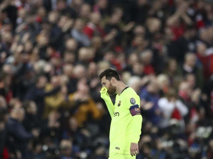 Lionel Messi masih dihantui kekalahan pahit Barcelona atas Liverpool di Anfield (Action Images via Reuters/Carl Recine)