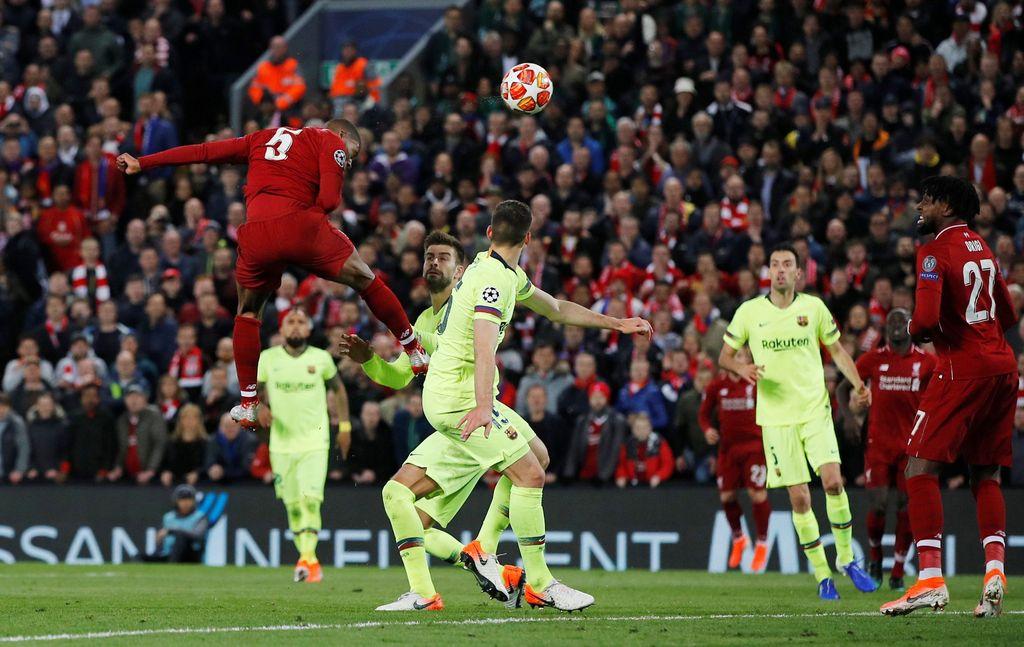 Liverpool mampu mencetak 4-0 dan menyingkirkan Barcelona