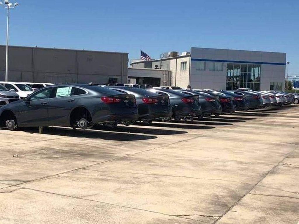 Ratusan Ban dan Pelek Mobil di Diler Chevrolet Digondol Maling