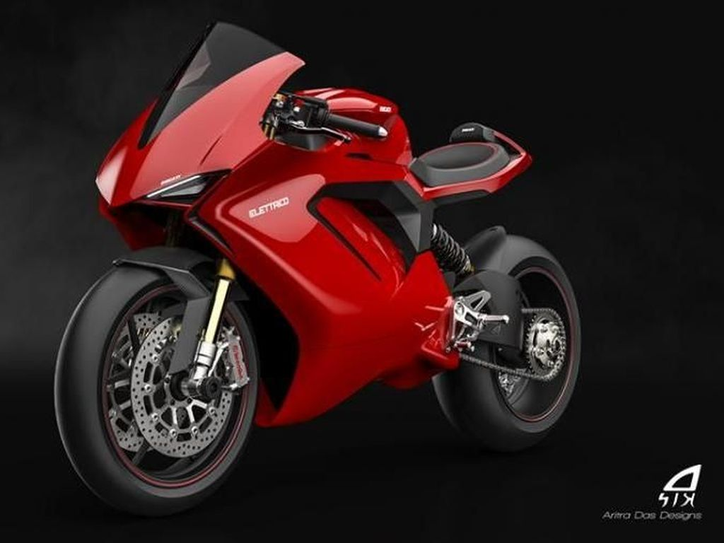 Hallo Ducati, Suka Tidak Desain Motor Listrik Ini?