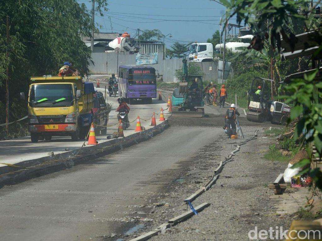 Hadapi Mudik Lebaran, Ruas Jalan di Selatan Jateng Dibeton