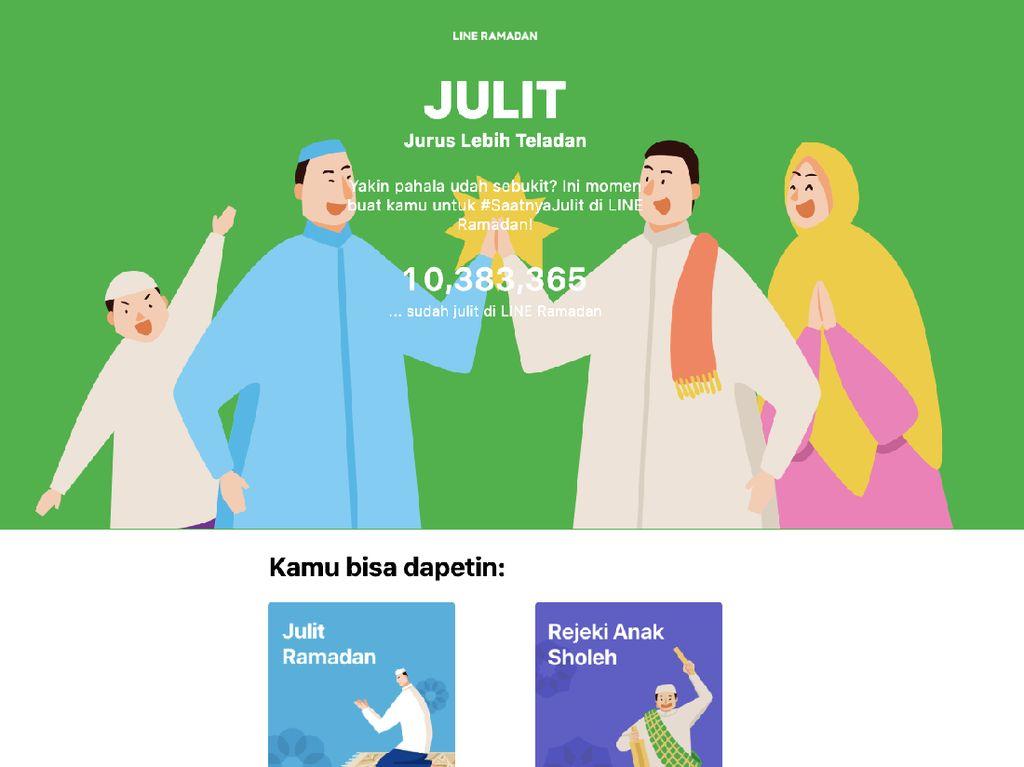 Line Hadirkan Fitur Ramadhan, Dari Julit Sampai Baper