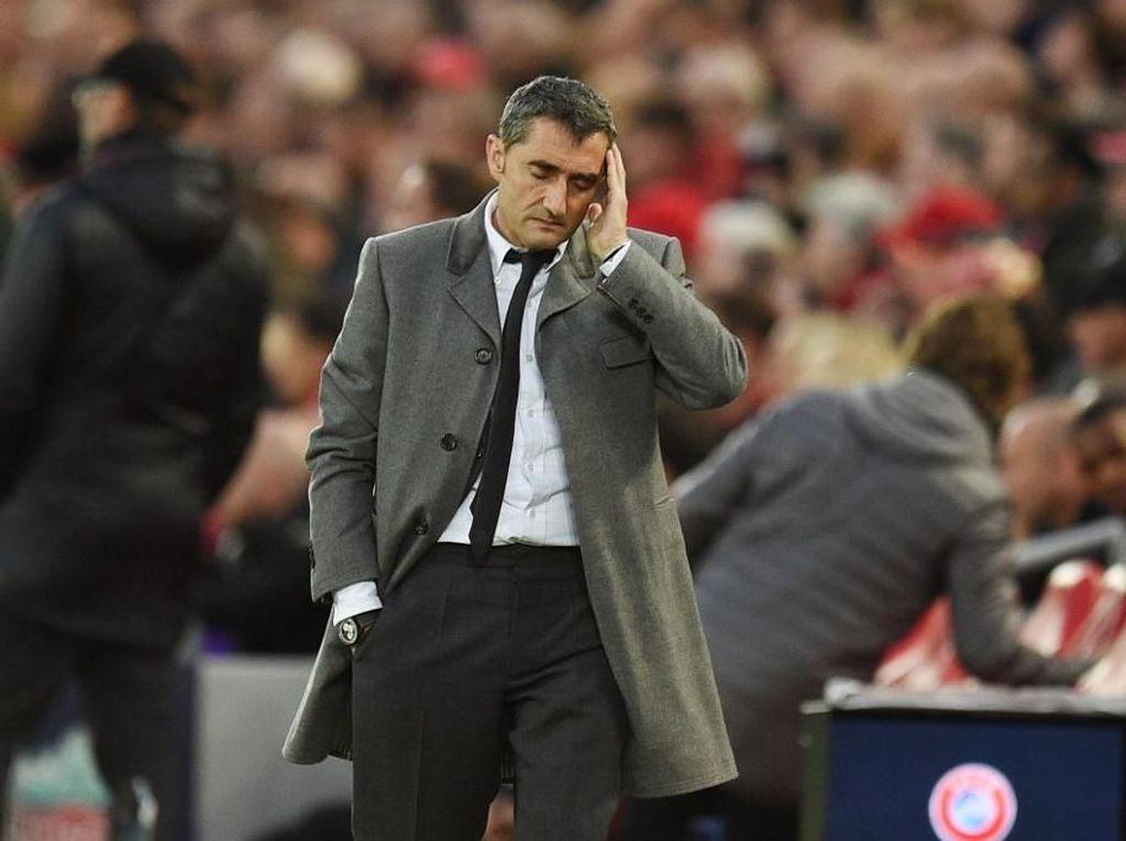 Persentase Kemenangan Ernesto Valverde Vs 4 Pelatih Barcelona Sebelumnya