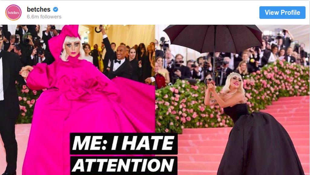 Bikin Ketawa, Lady Gaga hingga Katy Perry Jadi Meme Kocak Met Gala 2019