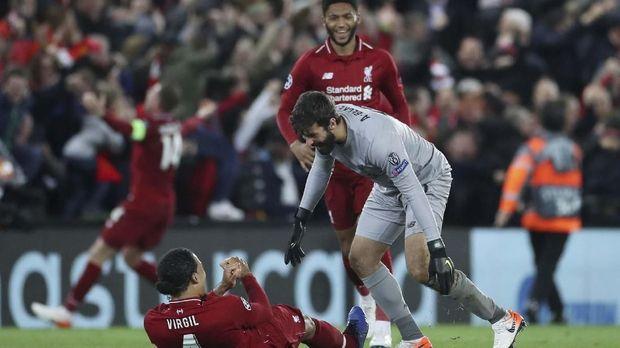 Liverpool sukses bangkit usai kalah 0-3 di leg pertama.