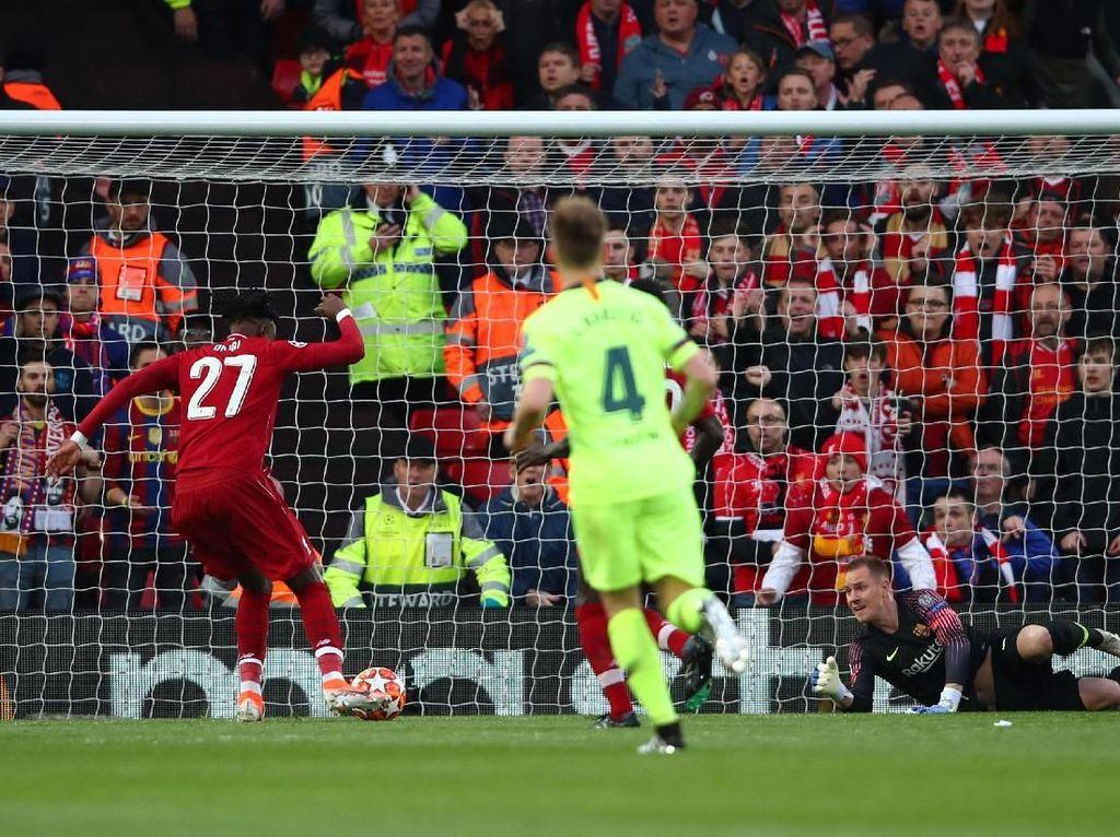 Liverpool vs Barcelona: Origi Bawa The Reds Sementara Unggul 1-0