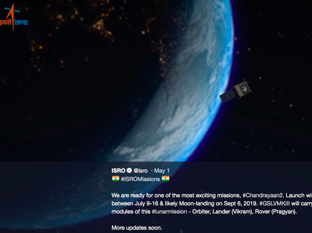 Tahun Ini India Mau Mendarat di Bulan