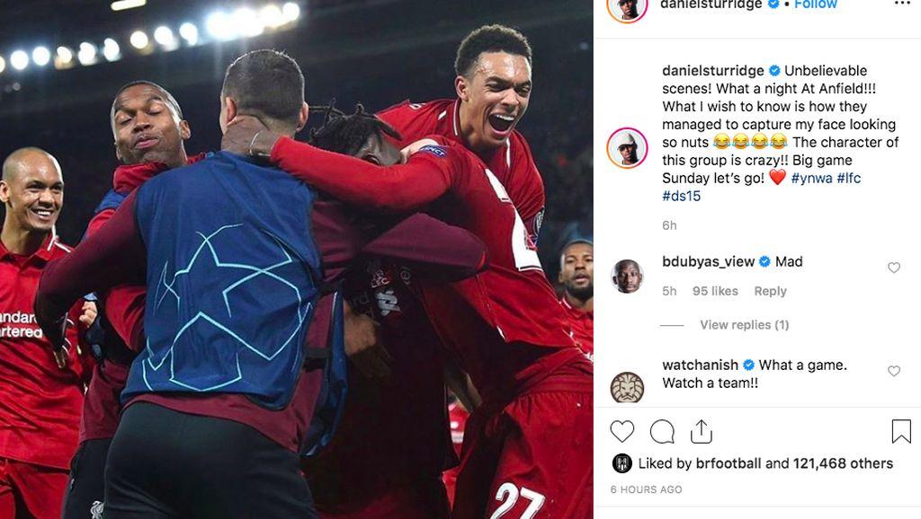 Perayaan Meriah Para Bintang Liverpool di Instagram