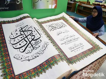 Alquran Raksasa juga Ada di Jakarta Islamic Center Lho