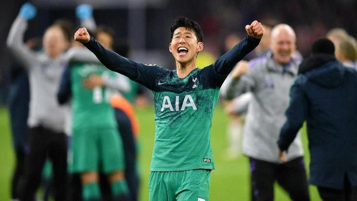 Setelah sukses di final Asian Games 2018, Son Heung-min akan kembali tampil di final bersama Tottenham Hotspur di Liga Champions (Foto: Dan Mullan/Getty Images)