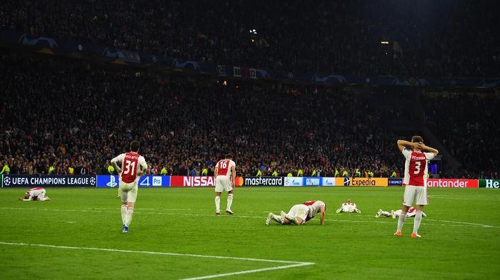 Ajax tersingkir di semifinal Liga Champions karena kebobolan di detik-detik terakhir. (Foto: Dylan Martinez/REUTERS)