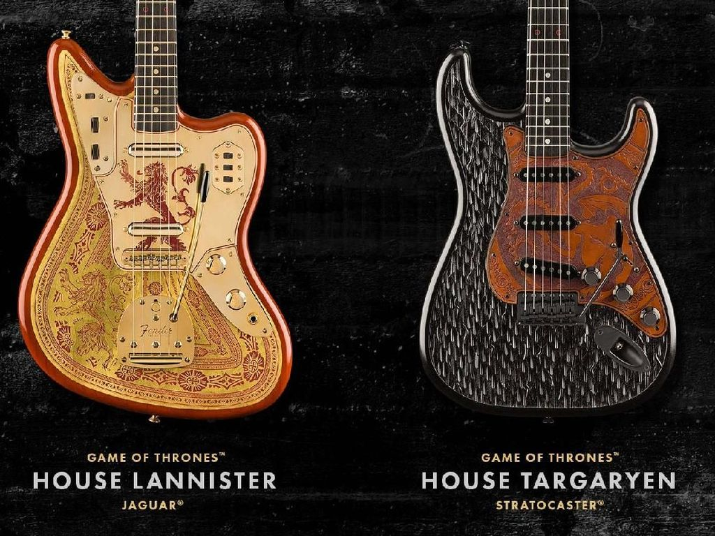 Fender Bikin Gitar Edisi Game of Thrones