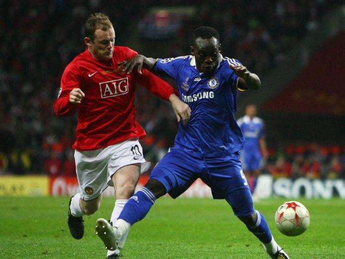 Manchester United dan Chelsea berduel di final Liga Champions 2007/2008 di Moscow (Alex Livesey /Allsport)