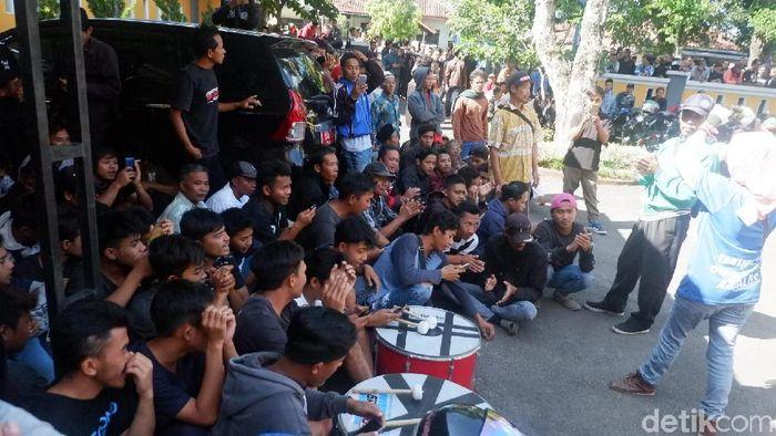 Sidang pengaturan skor di PN Banjarnegara, Kamis (9/5/2019). (Uje Hartono/detikSport)