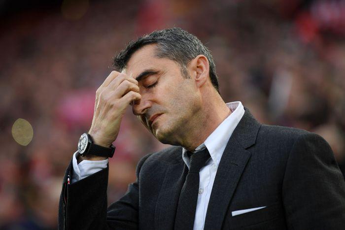 Ernesto Valverde dianalisis telah membuat lima kesalahan dalam tersingkirnya Barcelona di semifinal Liga Champions. (Foto: Shaun Botterill / Getty Images)