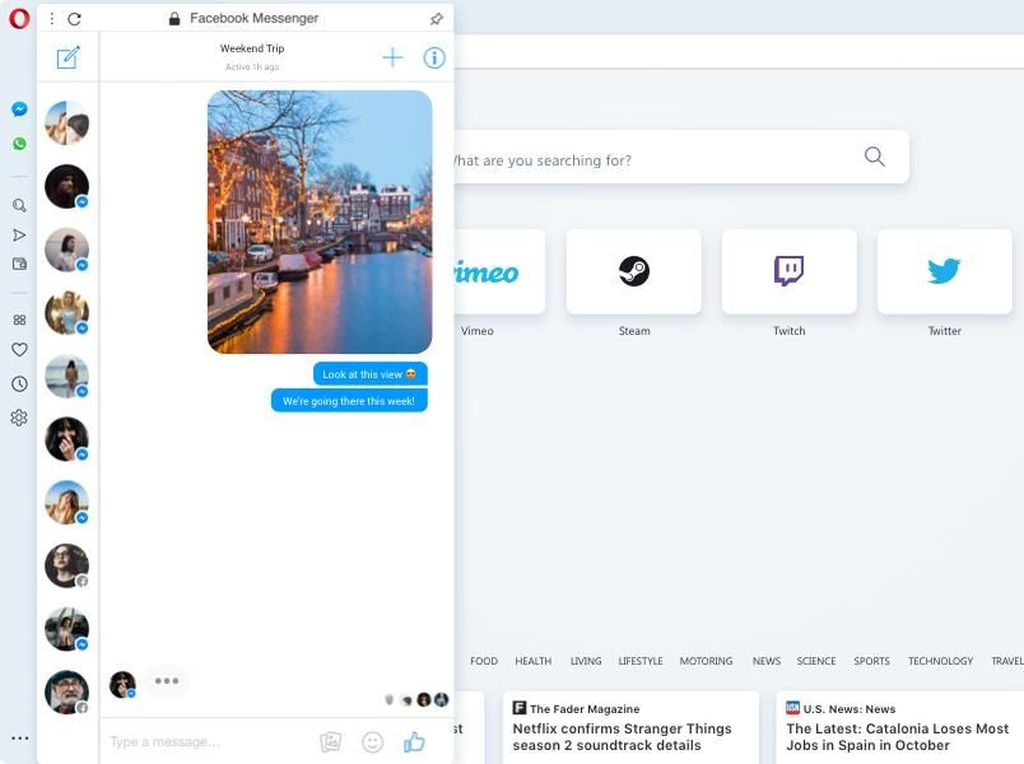 Rutin Pakai WhatsApp Web? Patut Cek Fitur Baru Browser Opera