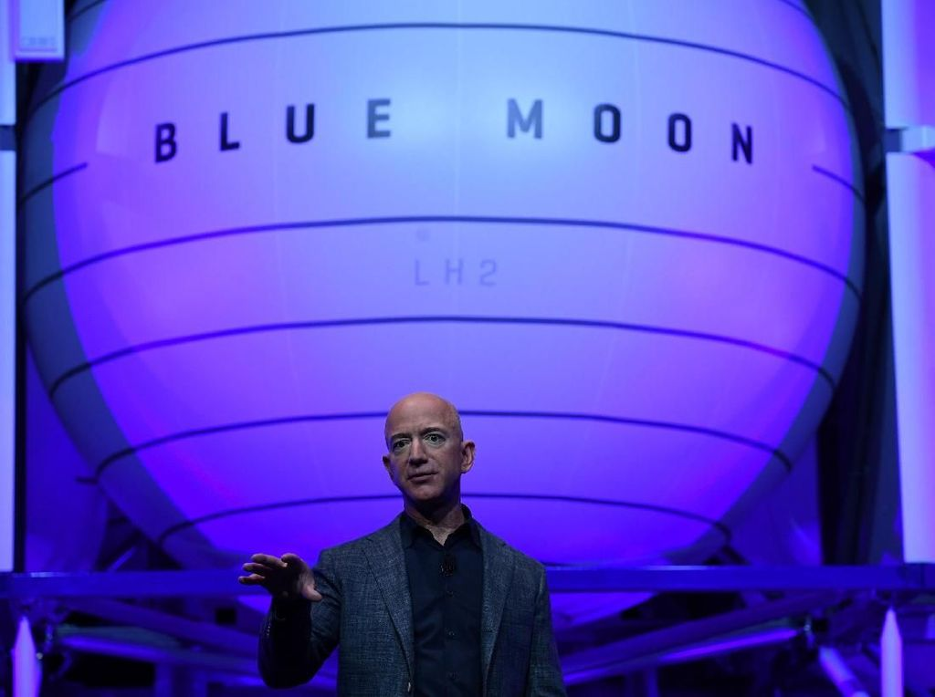 Jeff Bezos Perkenalkan Blue Moon, Wahana Pendarat ke Bulan