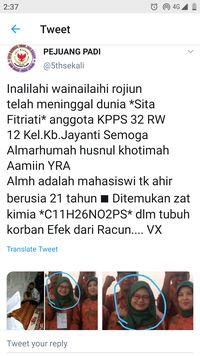 Viral Petugas KPPS Bandung Tewas Diracun, Keluarga: Hoaks!