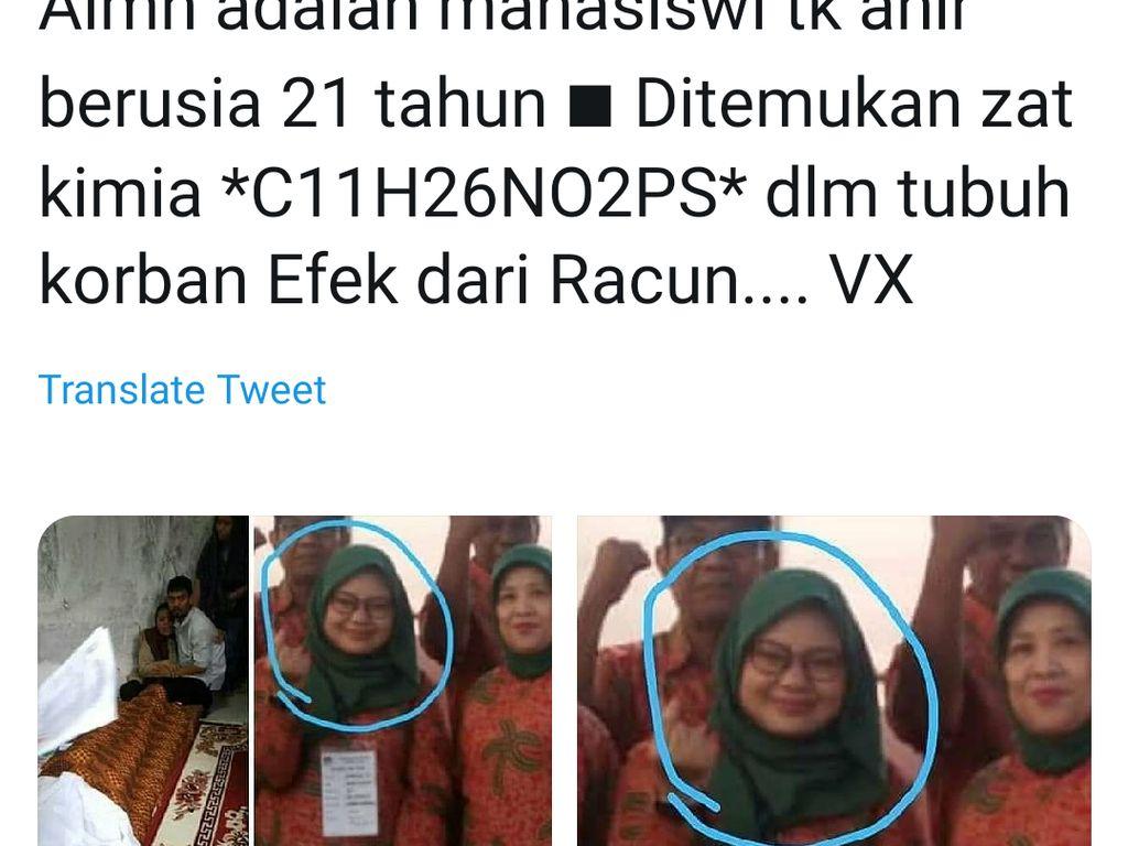 Durjana Penyebar Hoaks Petugas KPPS Tewas Diracun
