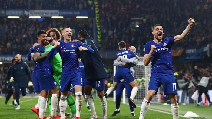 Chelsea menatap final Liga Europa kontra Arsenal. (Foto: Hannah McKay/Reuters)